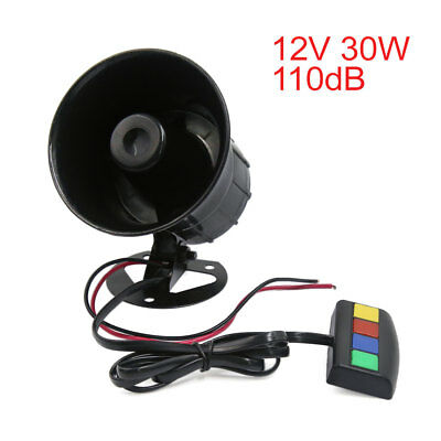 12V 30W 4 Sound 110db Tone Motorcycle Electric car Truck Siren Loud Horn Speaker