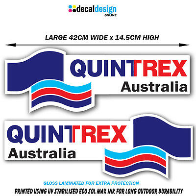 Quintrex Boat Decal Set UV Resistant & Laminated Vinyl stickers x 2 fishing