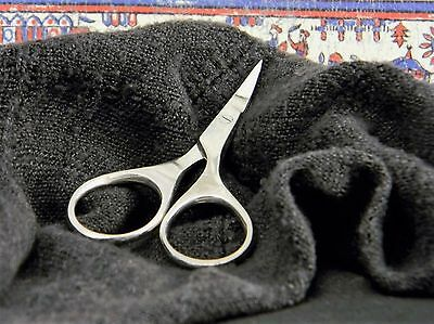 """Petite Curved 2 1/2"""" Finger for Embroidery Beadwork Workbasket Scissors"""