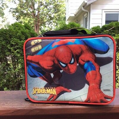 SPIDERMAN LUNCHBOX-By Thermos Co.INCLUDES A SPIDERMAN CANTEEN!