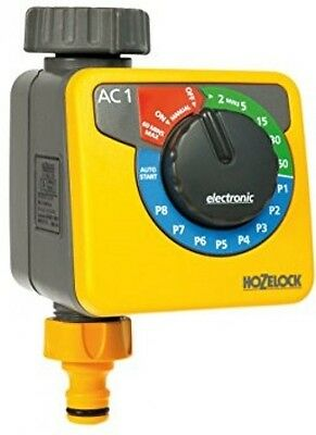 Hozelock Simple Electronic Water Computer Timer - Yellow And Grey