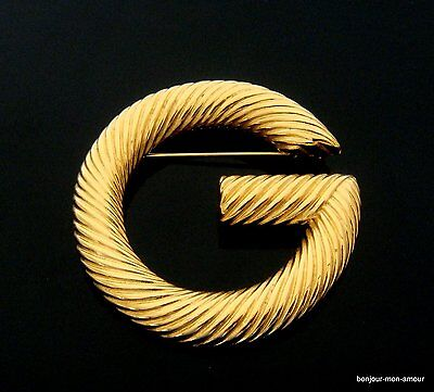 Haute Couture Designer GIVENCHY sign. -G- Brosche, Luxus Pur, Brooch, Broche,RAR