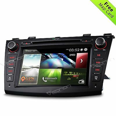 "Mazda 3 2010-2014 GPS Navigation Car DVD Player Radio SD Stereo 8"" o Bluetooth"