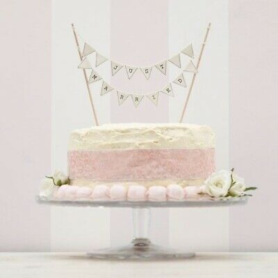 Just Married Cake Bunting - Ivory Vintage Lace Wedding topper by Ginger Ray