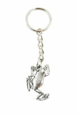 Tree Frog Pewter Keychain
