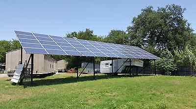 Solar Panels with Custom Ground Support Mounting Included