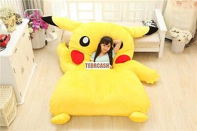 Pikachu Pokemon bean bag chair bed tatami mattress cushion 230x153cm -COVER ONLY