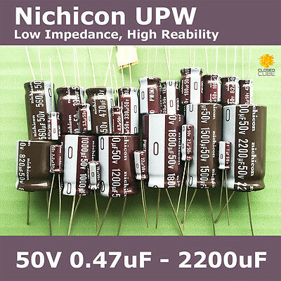 Nichicon UPW PW Low lmpedance, High Reliability [50V] Capacitors
