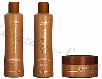 Cadiveu Brasil Cacau Shampoo Conditioner Mask Post Brazilian Treatment Home Care