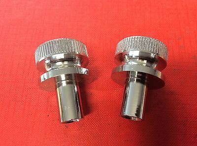 1 x PAIR KNURLED ALLOY ROCKER COVER NUTS WPA9029X MG MGA MGB MIDGET CLASSIC MINI