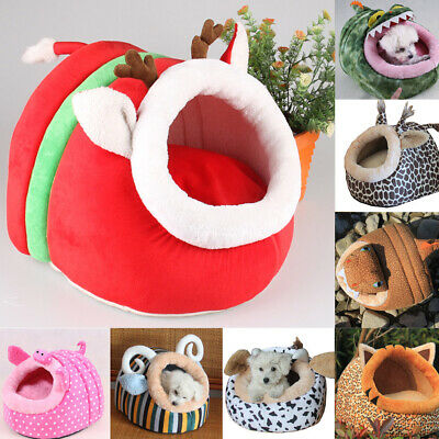UK Cute Soft Fleece Warm Washable Cushion Mat Dog Puppy Cat Pet Basket Bed House