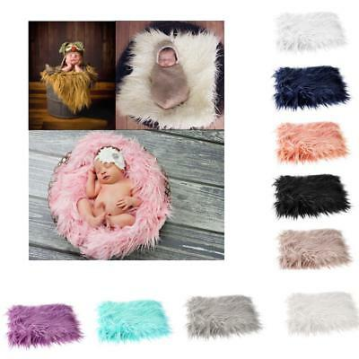 Newborn Baby Fur Photography Photo Props Background Backdrop Blanket Rug NEW