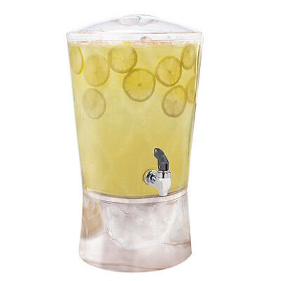 "Sculptured Beverage Dispenser Clear 3gal 14.2"" L x 12.9"" W x 1.4"" H Acrylic"