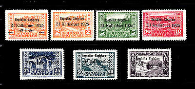 Albania - 1925 - SC 171-177 - H - Complete Set - Stamps of 1923 Overprinted
