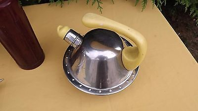 french mid century tea pot kettle bakelite aluminum art deco industrial desgin