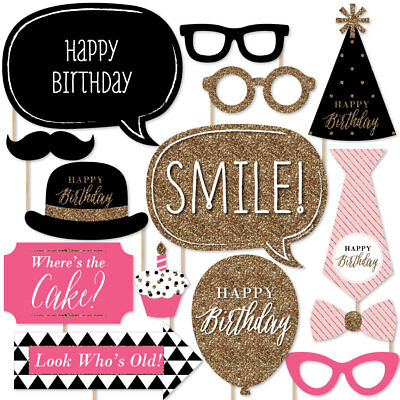 Sweet 16 Birthday Photo Booth Props Kit 20 Count 2598 Picclick