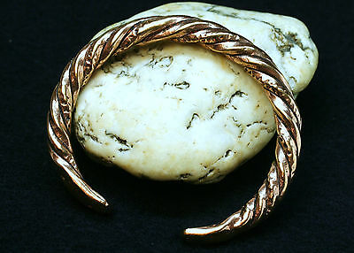 Viking Armlet twisted Bronze very robust 75g heavy Viking Men´s bracelet