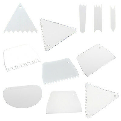 Scrapers Cake Decorating Fondant Icing Smoother Mould Frosting Tool SI