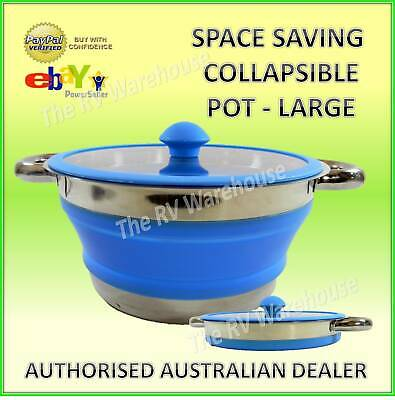 Silicone Pot Collapsible Space Saving New Caravan Camping RV Boat Kitchen Parts