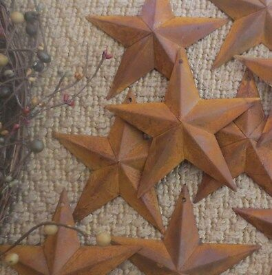 """Set of 10 Rusty Barn Stars 5.5 in 5 1/2"""" Dimensional Rustic Country SHIPS FREE!"""