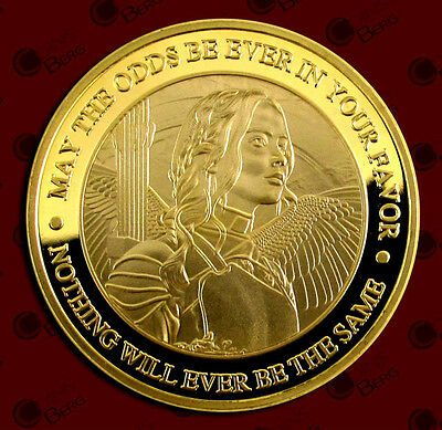 1 oz THE HUNGER GAMES MOCKINGJAY FINISHED IN .999 24K Gold CLAD Coin