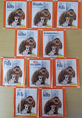 The Secret Life Of Pets ~ Panini Sticker Collection ~ 10 x Sealed Packs