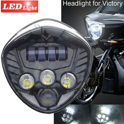 Motorcycle Black Led Headlight for Victory 10-16 Cross Models 07-16 Cruisers
