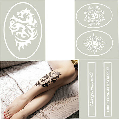OPHIR A4 Reusable Airbrush Glitter Temporary Tattoo Stencil Painting Template