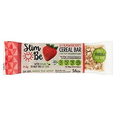 Slim-Be Strawberry Cereal Bar 35g. Shipping Included