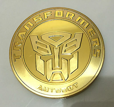 1 oz TRANSFORMER AUTOBOT DECEPTICON FINISHED IN .999 24K Gold CLAD Coin