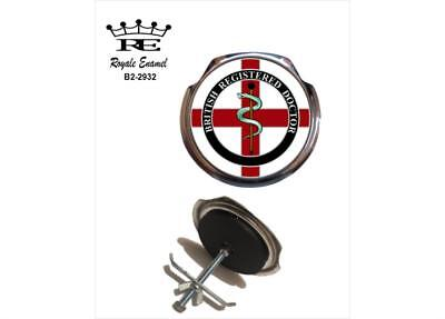 Royale Car Grill Badge + Fittings - BRITISH REGISTERED DOCTOR - B2.2932