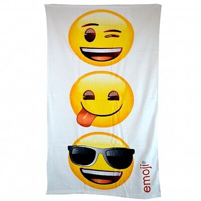 Emoji Emoticon Yellow 'Stacked' Printed Beach Towel