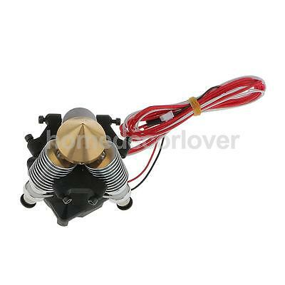 Full kit 3in-1out 0.4mm/1.75mm Filament Extruder Mix-Colors for 3D Printer