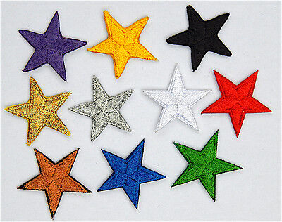 Stars patches > embroidered > iron-on or sew-on  > very pretty! Lots of colours.