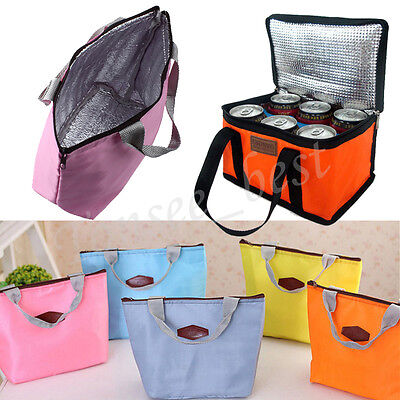 Waterproof Portable Travel Picnic Insulated Food Storage Box Tote Lunch Bag Case