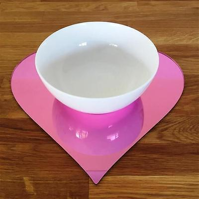 Mirrored Pink Heart Shaped Placemat Set