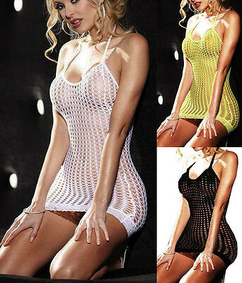 Fishnet lace Babydoll Sexy Lingerie Underwear BODYSTOCKING backless strapless