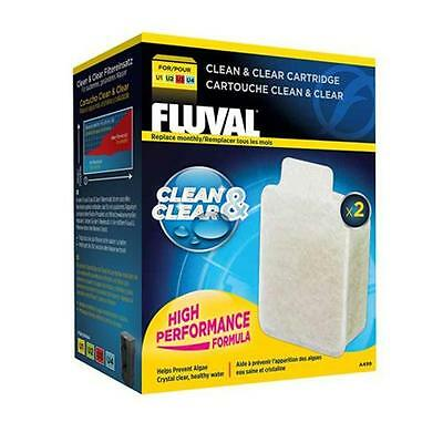 Fluval Clean and Clear Cartridge Aquarium Fish Tank Filter Media U1 U2 U3 U4
