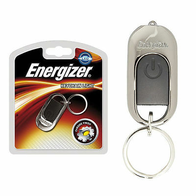 Energizer LED Small Compact Chrome Keyring Keychain Keys Torch Light