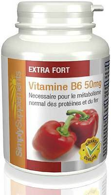 Vitamine B6 50mg - 360 comprimés - Simply Supplements