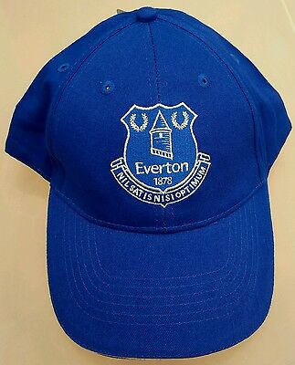 Official Everton Adults Royal and White crested Baseball Cap - Great Gift Idea