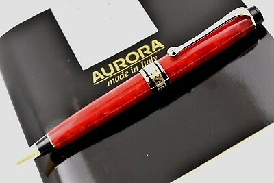 NEW + BOX Aurora 75th Anniversary Limited Edition 7500 Red & Gold Ballpoint Pen