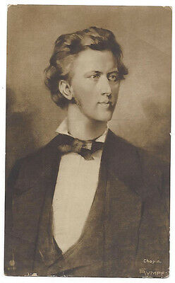 FREDERIC CHOPIN Polish Composer and Pianist, Postally Used Postcard 1909