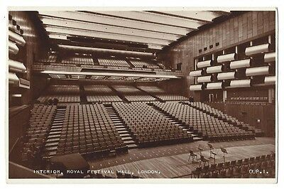 ROYAL FESTIVAL HALL London, The Interior, RP Postcard by Valentine Unused