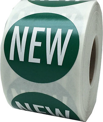 """Green with White """"NEW"""" Stickers 