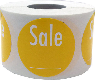 "1.5"" Write Your Own Price Yellow Sale Stickers"