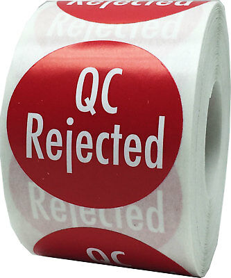"""1.5"""" QC Rejected Inventory Labels"""