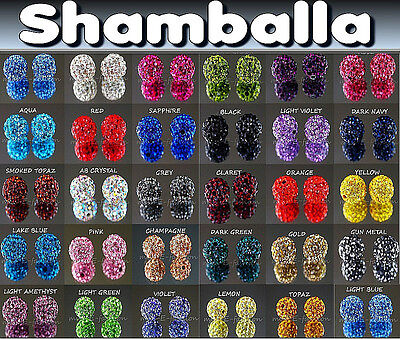 100 200 500 FINE QUALITY CRYSTAL beads  craft DISCO CLAY 10 mm job lot