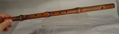 Antique English London Nicholson Early Flute Single Key Boxwood England