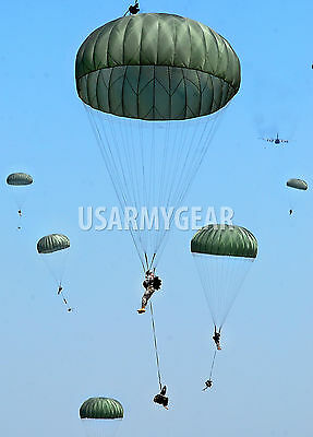 Complete T10 Personnel Parachute 35' New n Box US Army Military Surplus Foliage